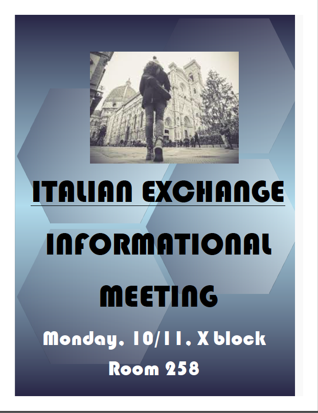 Italian Exchange Info Session Flyer