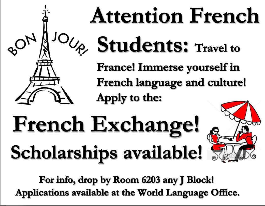 NSHS French Exchange Flyer 2018