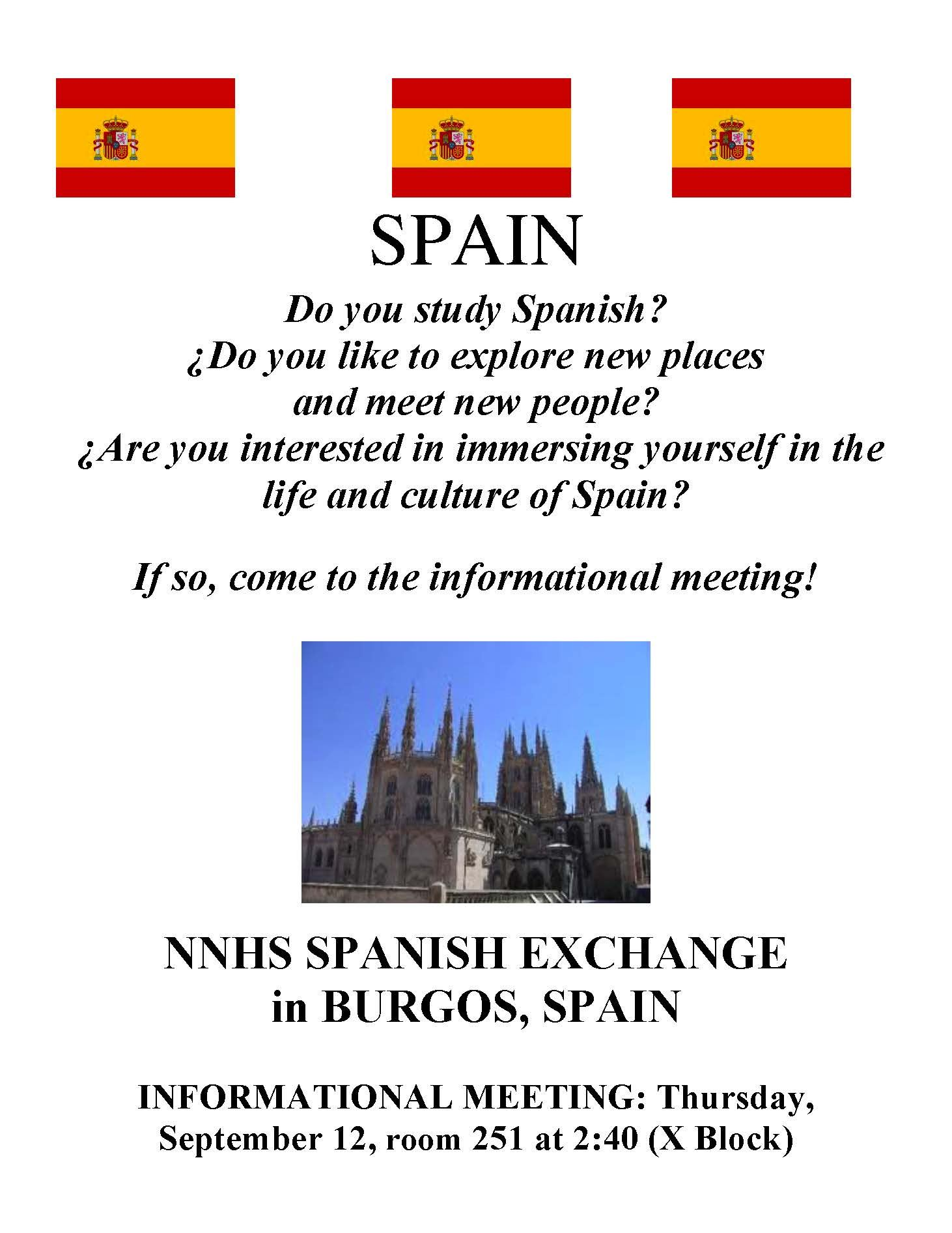 Spanish Exchange Flyer 2019