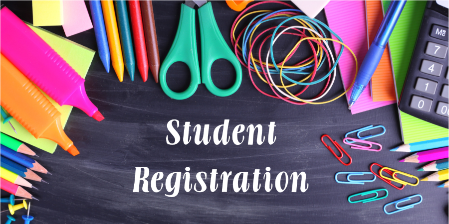 Student registration image of art supplies