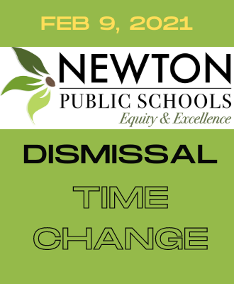 Dismissal Times Change for Feb. 9, 2021