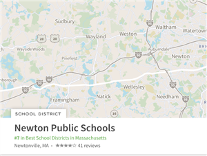 Newton Public Schools with map