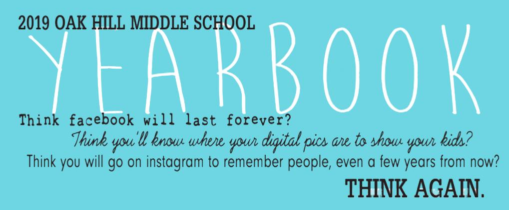 oak hill middle school yeabook 2018 19 check your parent teacher